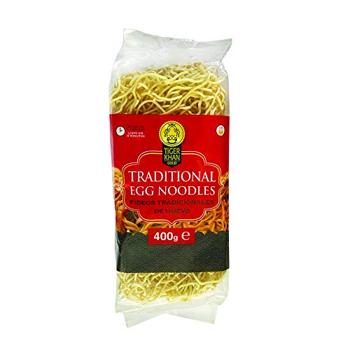TIGER KHAN Fideos de Huevo Tradicionales para Comida Asiática 400g