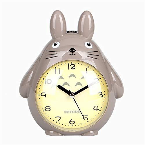 xinrongqu Kreative Kinder Aufwachen Wecker Totoro Nacht Ruhiges Nachtlicht Snooze Niedlichen Kleinen Wecker Größe 155 * 138 * 80mm C