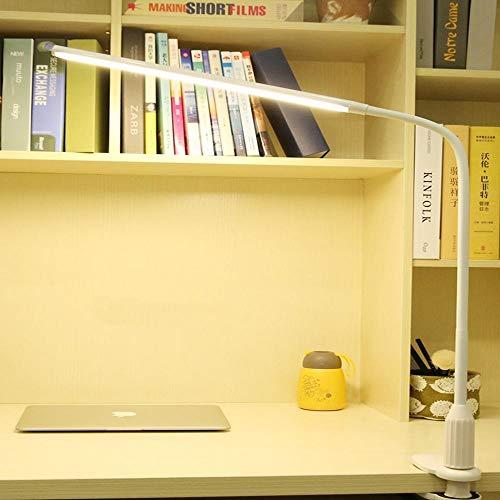LED Leselicht Buch,clip lichter fahrrad,led schreibtischlampe clip art augenschutz student schreibtischlampe arbeit schreibtisch wind stecker nachttischlampe-Wei? [10W] Stufenloses Dimmen und Farbanpa