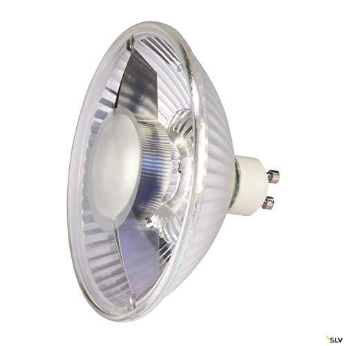 SLV GU10 ES111 LED Leuchtmittel, 11,1 cm Ø | 6,5 Watt, 2700 Kelvin (warmweiß), 390 Lumen Lichtstrom, nicht dimmbar | sehr sparsame LED-Lampe, EEK A+ und 7 kWh Energieverbrauch | 30.000 h Lebensdauer