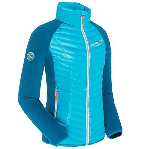 emansmoer Femme Ultra léger Packable Puffer Doudoune Veste vers Le Bas Hiver Outdoor Sport Veste de Camping Randonnée (XX-Large, Bleu)