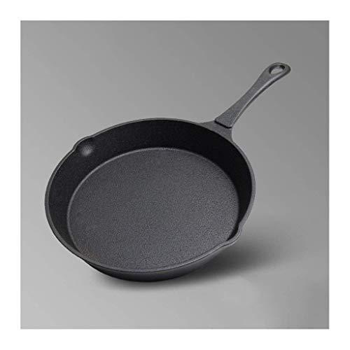 BANANAJOY 23,5 cm redonda de metal con mango de sartén for interiores y exteriores barbacoas frito bistec