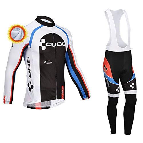 Completi Ciclismo Squadre Invernale Maglia Ciclismo Uomo con Pantaloni Lunga Termica Abbigliamento Ciclismo Squadre Professionisti