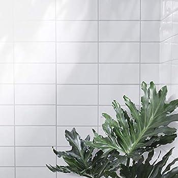 Tic Tac Tiles/® 5-Sheet 12x 12 Peel and Stick Self Adhesive Removable Stick On Kitchen Backsplash Bathroom 3D Wall Sticker Wallpaper Tiles in Subway Black Straight