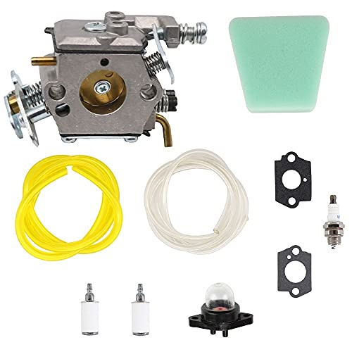 SAKITAM Carburetor Carb for WT324 Walbro 358350380 358.350380 18'' 42cc Gasoline Chainsaw Craftsman with Gaskets Fuel Filter Air Filter Kit