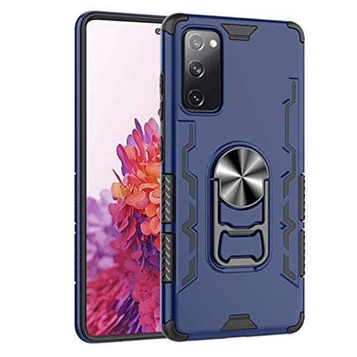 Funda para Samsung Galaxy S20 Fan Edition Case, Galaxy S20 FE 5G Heavy Duty Shockproof Grade Grade Drop Protective Phone Case Permanente, con soporte de anillo [Soporte] Carcasa S20 FE, azul