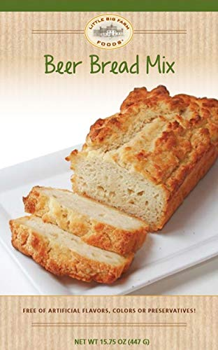 Beer Bread Mix by Little Big Farm Foods - Hearty, Mouthwatering Bread Mix That's So Easy to Make - No Bread Machine Needed - No Artificial Ingredients, Flavors, or Colors