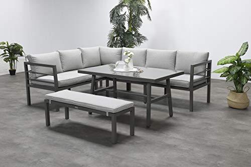Garden Impressions Hohe Dining Aluminium Lounge Blakes Barista Links, inklusive XL Bank und wasserabweisender Kissen