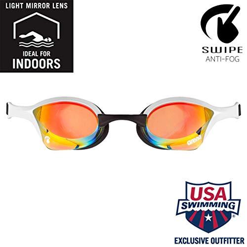ARENA Unisex– Erwachsene Cobra Ultra Swipe Mr (Yell-White) Swim Goggles, Mehrfarbig, 1