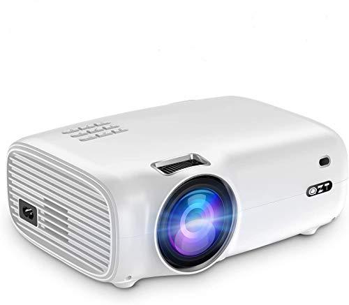 ProiettoreFull HD, QZT Videoproiettore Portatile 4500 Lumen,Display da 200 1080PSupportato, Lampadina da 50000 Ore, con HDMI USB VGA AV Micro SD, Video Proiettore LED per Android IOS TV Box PC
