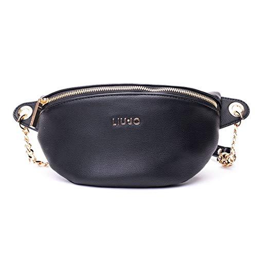Luxury Fashion | Liu Jo Dames NA0151E006422222 Zwart Polyurethaan Heuptas | Lente-zomer 20