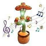 GDZTBS Juguetes de Peluche de Cactus, Cactus Que Canta y Baila, Cactus Que se Mueve Electrónicamente, Grabación de Repetición, Que Aprende a Hablar, Que Canta, Cactus, Juguete Divertido