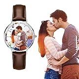 Reloj de Negocios para Hombre Personalizado, Reloj Casual de Cuarzo Resistente al Agua Regalo Personalizado con Foto