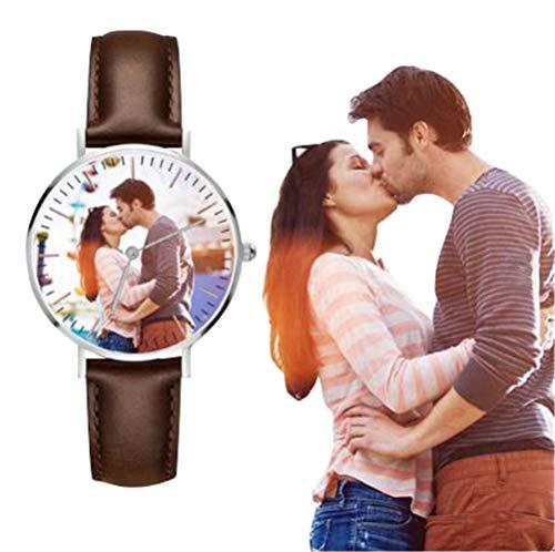 Kundengebundene Mann-Geschäfts-Uhr, wasserdichtes Quarz-beiläufige Uhr-personalisiertes Foto-Geschenk