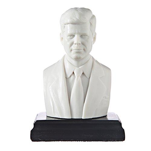 "Amerikaanse president John F. Kennedy marmeren buste standbeeld beeldhouwkunst 5.4"" wit"