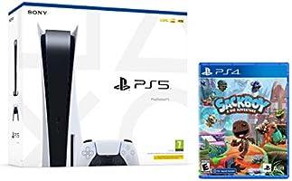PS5 Konsole Sony PlayStation 5 - Standard Edition, 825 GB, 4K, HDR (Mit Laufwerk) + Sackboy: A Big Adventure - [inkl....