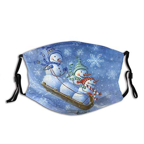 hasakii Sledding Snowmen Face Cover Schal, Antidust & Reusable Windproof Bandana mit 2 austauschbaren Teilen, für Outdoor & Indoor-SleddingSnowmen1-1PCS