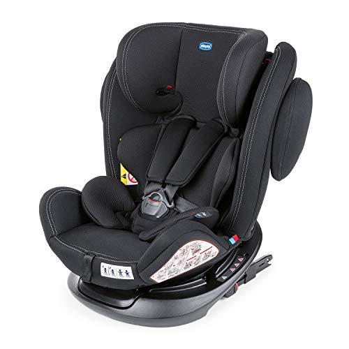 Chicco Unico Plus Siège Auto Bébé ISOFIX Inclinable 0-36 kg, Groupe 0+/1/2/3 pour Enfants de 0 à 12 ans, Facile à Installer, Appui-Tête Réglable, Protection Latérale et Réducteur pour Bébé - Noir