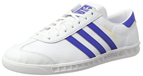 adidas Hamburg, Zapatillas de Deporte para Hombre, Blanco (Ftwbla/Azufue/Dormet), 36 EU