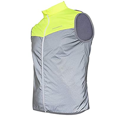 ROCK BROS Reflective Vest for Running Cycling High Visibility Safety Vest for Men Women Breathable Sleeveless Bike Vest Running Vest Gear