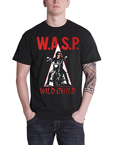 Wasp T Shirt Wild Child The Last Command Band Logo offiziell Herren Nue