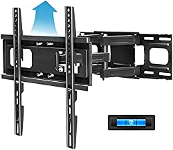 Full Motion TV Mount with Height Setting FOZIMOA TV Wall Mount for Most 32-65 inch LED LCD Plasma Flat Screen Articulating Swivel Tilt Extension TV Bracket up to 121lbs Loading Max VESA 400x400mm