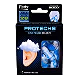 Protechs Ear Plugs for Sleeping, 10 Pair with Case, NPR 28