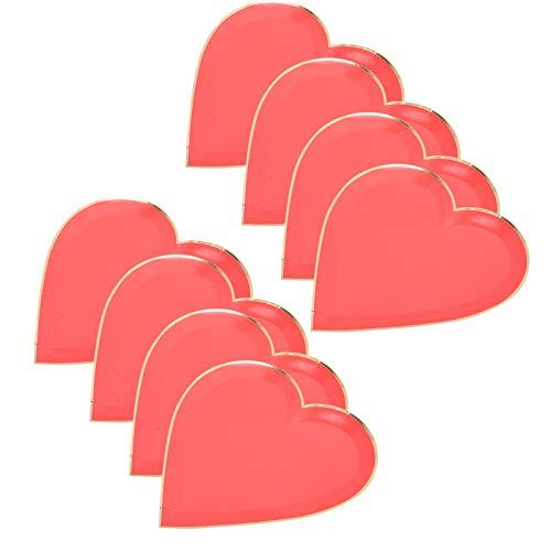 Hermosos artículos para fiestas, vajilla, decoración, platos para fiestas, prácticos platos de papel para el día de San Valentín, nueces en forma de corazón para dulces para fiestas,(red)