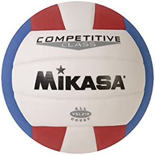 Mikasa Competitive Class Volleyball (Red/White/Blue)