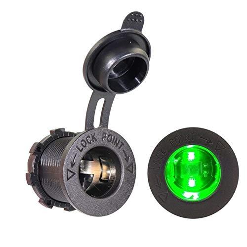 N\A Auto Leichter Wasserdicht-Zigarettenanzünder-Buchse Stecker Outlet Car-Styling 12V Motorrad-Auto-Boot Traktor Zubehör qualitätssicherung (Color Name : Green)