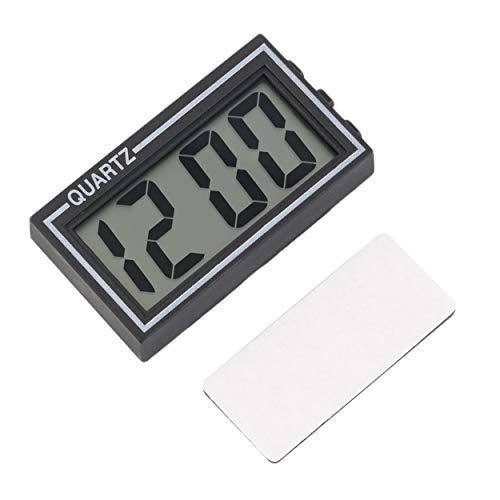 Lorenlli Schwarzer Kunststoff Kleiner digitaler LCD-Tisch Auto Armaturenbrett Schreibtisch Datum Zeit Kalender Kleine Uhr Mit Kalenderfunktion TS-CD92