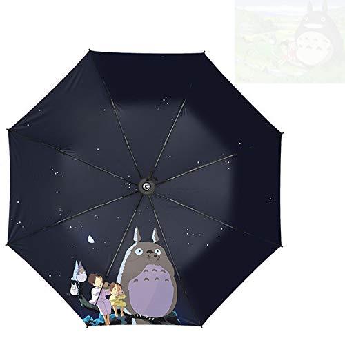 Tri-fold umbrella cartoon windproof folding sun umbrella - Style 4