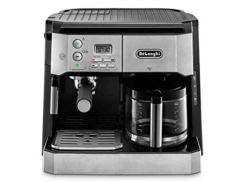 De'Longhi Combi Coffee Machine, Traditional Pump Espresso and Filter Coffee,...