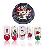 Onsinic 10pcs / Set 3D Nail Art Decoración de Navidad Accesorios de uñas temático del Perno Prisionero del Clavo de DIY Pegatinas Supplie Diamantes de imitación de Las uñas (Estilo B)
