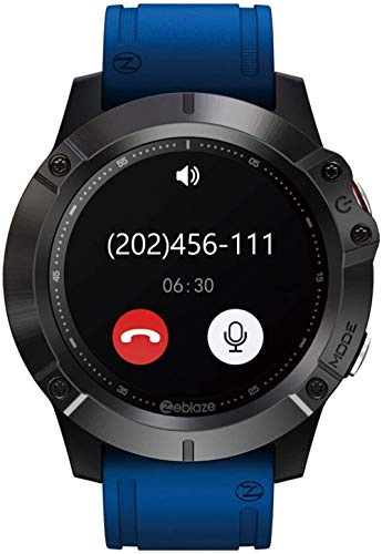 JSL Reloj Inteligente Bluetooth Llamada 1.3 Pulgadas IPS Color Touch ScreenVibe 6 Pulsera 300Mah Batería Multi Modo Deportivo Negro-Azul