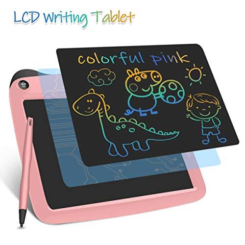 Enotepad Gráfico Electrónico Portátil, eWriter Digital Dibujo Colorido 9 Pulgadas LCD Doodle Pad Tableta Gráfica LCD para Niños Rosado