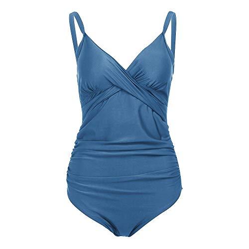 Dames zwemkleding Sexy V, effen kleur plus size zwangere vrouwen badmode, verdikte beha strand bikini, vintage badpak print zwemkleding