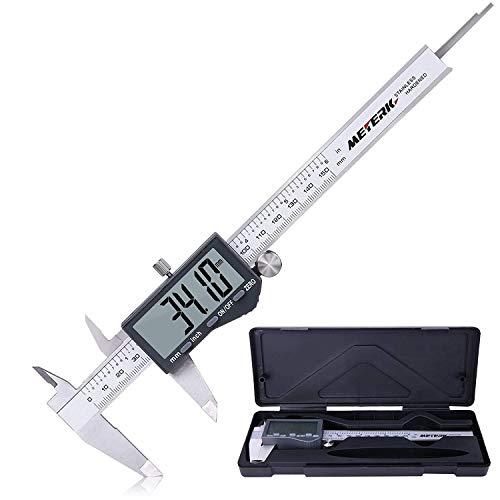 Calibre Digital, Meterk Pie de Rey de Acero Inoxidable de 150mm Calibrador...