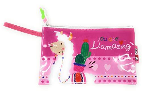 Lama Trousse de toilette et beauté pour enfants filles et ados Le Rose