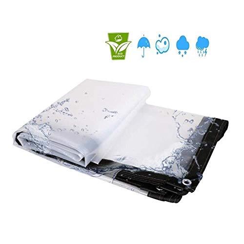 ZXF - Lona resistente al agua para el hogar, resistente al agua, transparente, para jardín, hidratante, Pergola, PE, Paño de lluvia, Paño de metal, lona pesada para camiones, 4x6m