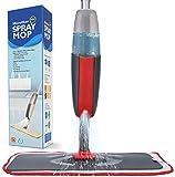Fixget Mopa con Pulverizador, Fregona con Vaporizador Mopa Microfibra Spray con 2 La Almohadilla De Microfibra Y 1 Botella Reutilizable, RotacióN De 360°(Rojo)