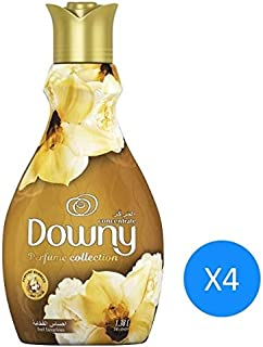 Downy Perfume Collection Concentrate Fabric Softener Feel Luxurious, 1.38L 4 Pcs