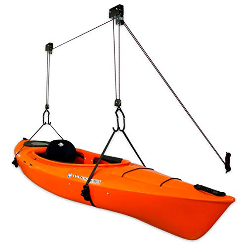 StoreYourBoard Kayak Ceiling Storage Hoist, Hi Lift Home and Garage Hanging Pulley Rack