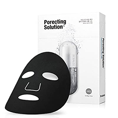 Dr. Jart 5 Sheets Of Dermask Ultra Jet Porecting Solution Bubbling Charcoal Masks (Minimizes And Purifies Pores)