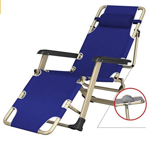 QGL-HQ Chaises pliantes de camping for les gens lourds, président gris for l'extérieur Voyage, 260 kg (Couleur: BLEU)