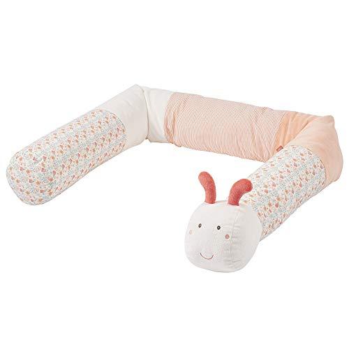 FEHN 062533 Nestchenschlange Raupe / Weiche Bettumrandung für Babybett, Kinderbett, Laufgitter, Stubenwagen, für Babys und Kleinkinder ab 0+ Monaten
