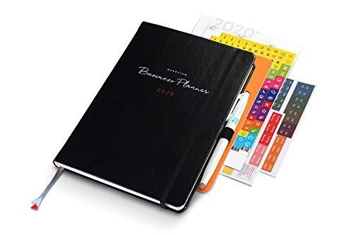 weekview Business Planner 2020 Premium | Mit Froschtasche, Stiftschlaufe, Tafelplaner und Griffregister. Inkl. weekdori Notes und Stift.
