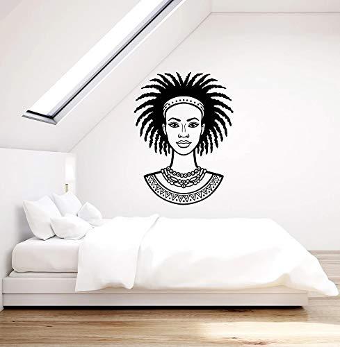 LKJHGU Arte Decorativa dell'autoadesivo Etnico delle Donne della Ragazza Africana della Parete del Vinile