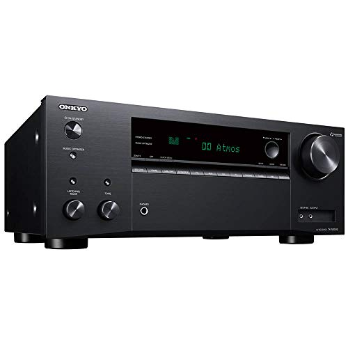 Onkyo TX-NR595 Home Audio Smart Audio and Video Receiver, Sonos Compatible and Dolby Atmos Enabled, 4K Ultra HD and AirPlay 2 (2019 Model)