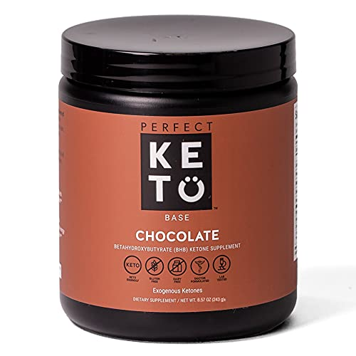 Exogenous Ketones Powder, BHB Beta-Hydroxybutyrate Salts Supplement, Best Fuel for Energy Boost, Mental Performance, Mix in Shakes, Milk, Smoothie Drinks for Ketosis – Chocolate, 8.57 oz (243 grs)